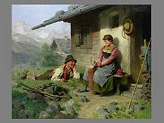 Hugo Kauffmann, 1844 - 1915 Prien am Chiemsee