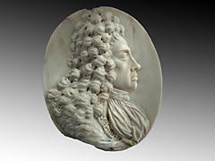 Bedeutende Bildnisreliefplatte König Joseph I. von Paul Strudel um 1648 in Cles/Italien - 1708 Wien