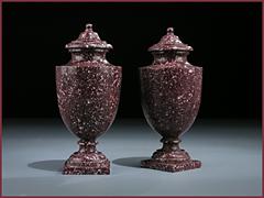 Paar Porfido-Vasen