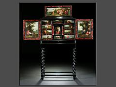 Kabinettmöbel des 17. Jahrhunderts mit Kleingemälden aus der Werkstatt Adriaen van Stalbemt