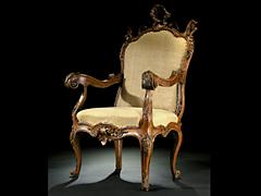 Seltener venezianischer Barock-Sessel