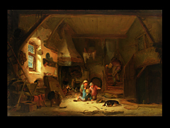 Detailabbildung:  Isack van Ostade,