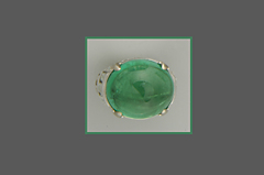 Ring aus Smaragd Cabochon