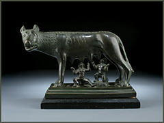 Romulus und Remus bei der Wölfin