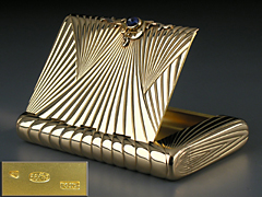 Goldenes Cigaretten-Etui