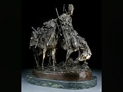 Russische Bronzegruppe von A. E. Evgeny Aleksandrovich Lansere Russland 1848 - 1886