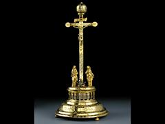 Kruzifixuhr des 17. Jahrhunderts
