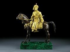 Russische Bronze-Skulptur des 19. Jahrhunderts