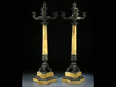 Paar Siena-Girandolen