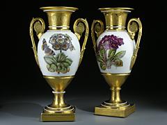 Paar bedeutende Porzellanvasen, St. Petersburg, um 1810 - 1820