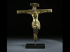 Bronzekreuz mit Corpus Christi des 14. Jahrhunderts.