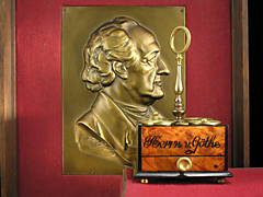 Objekte von Johann Wolfgang von Goethe aus der Sammlung Karl Flöck