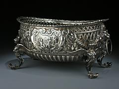 Silberschale, als Geschenk für seine Majestät den Prinzen von Wales im März 1881
