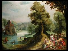 Hendrick de Clerck 1570 - 1629 und Gillis van Coninxloo III 1544 - 1607, zugeschrieben
