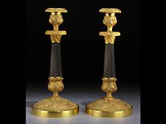 Paar Empire-Tischkerzenleuchter
