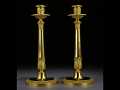 Paar Empire-Kerzenleuchter