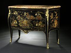 Detailabbildung: Seltene französische Lackkommode, Paris um 1750 Jacques Dubois, 1694 - 1763 (Meister 1742) zugeschrieben.