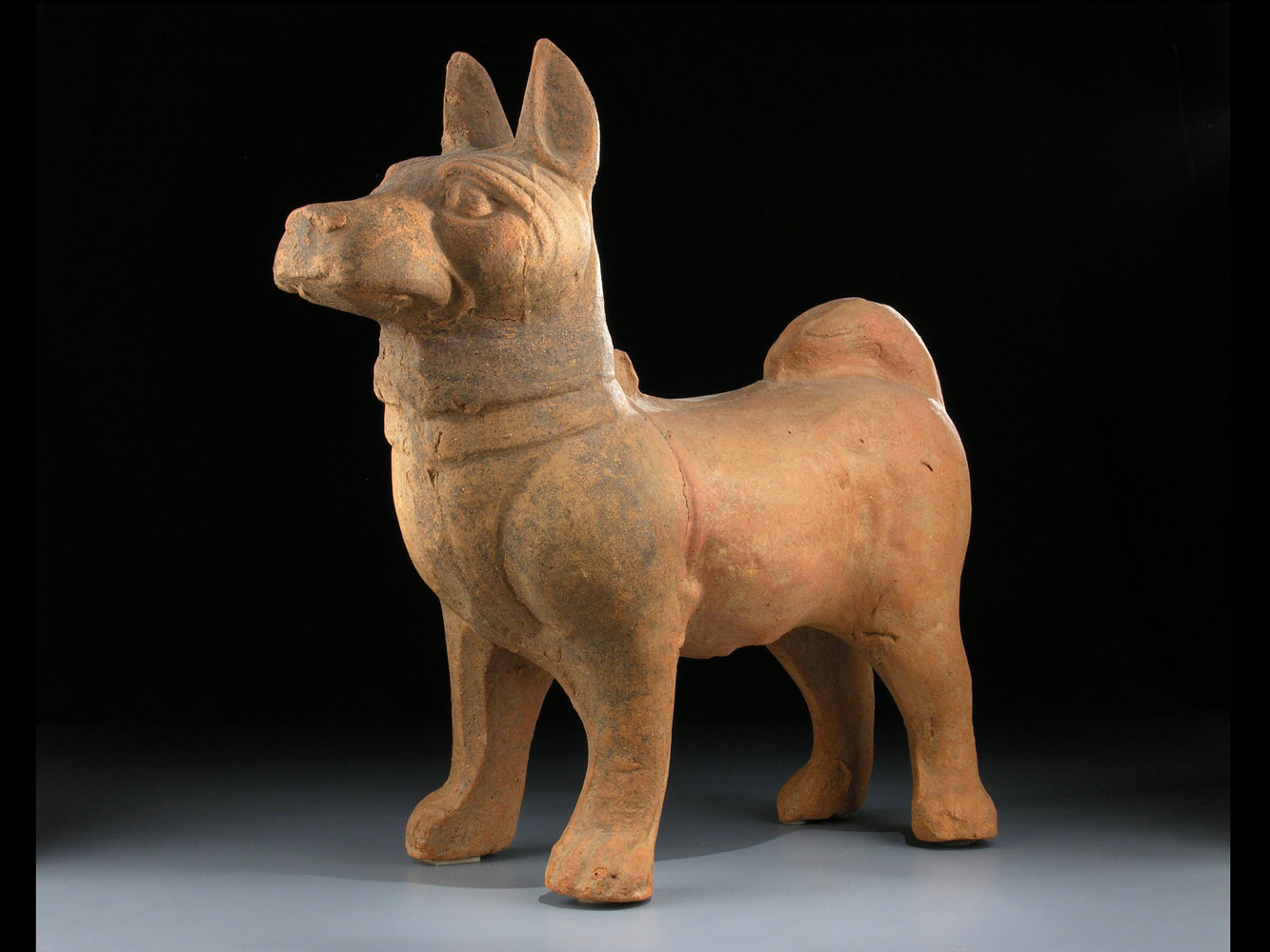 Mittelgroßer Hund der Han-Dynastie