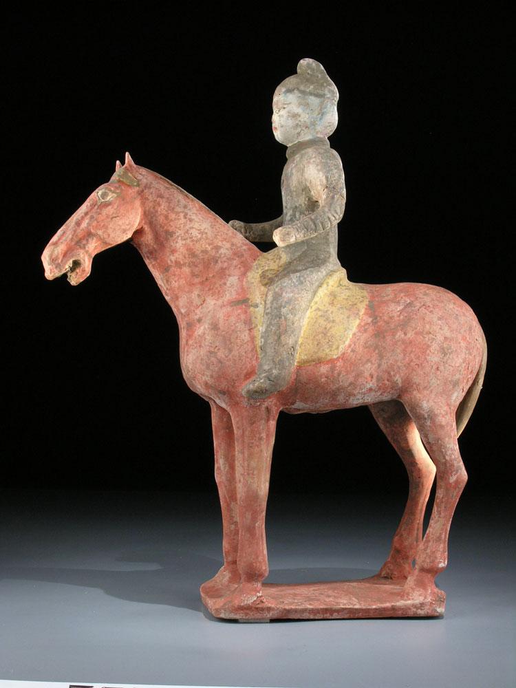 Pferd und Reiterin der Tang-Dynastie