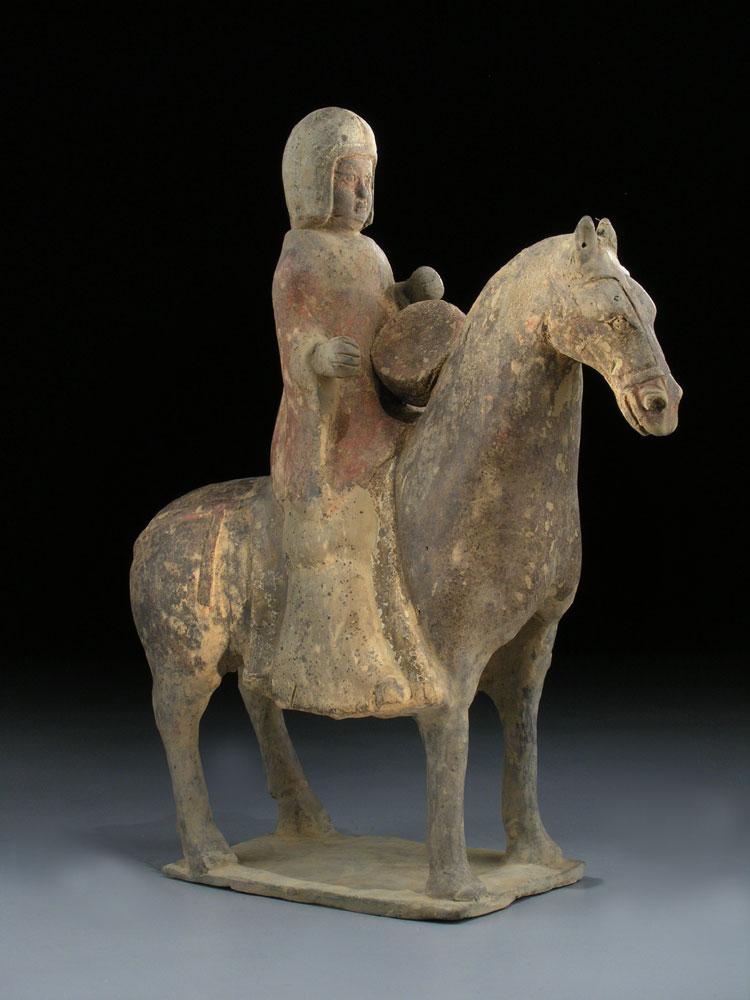 Pferd und Reiter der Wei-Dynastie