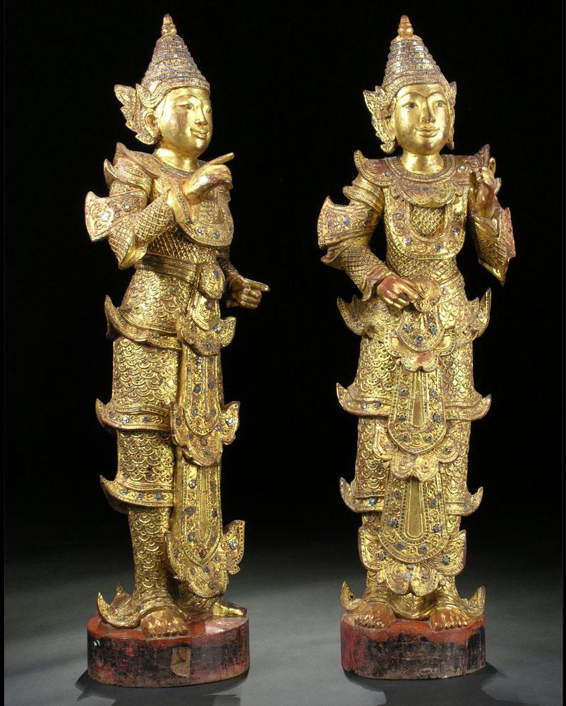 Paar Tempelfiguren