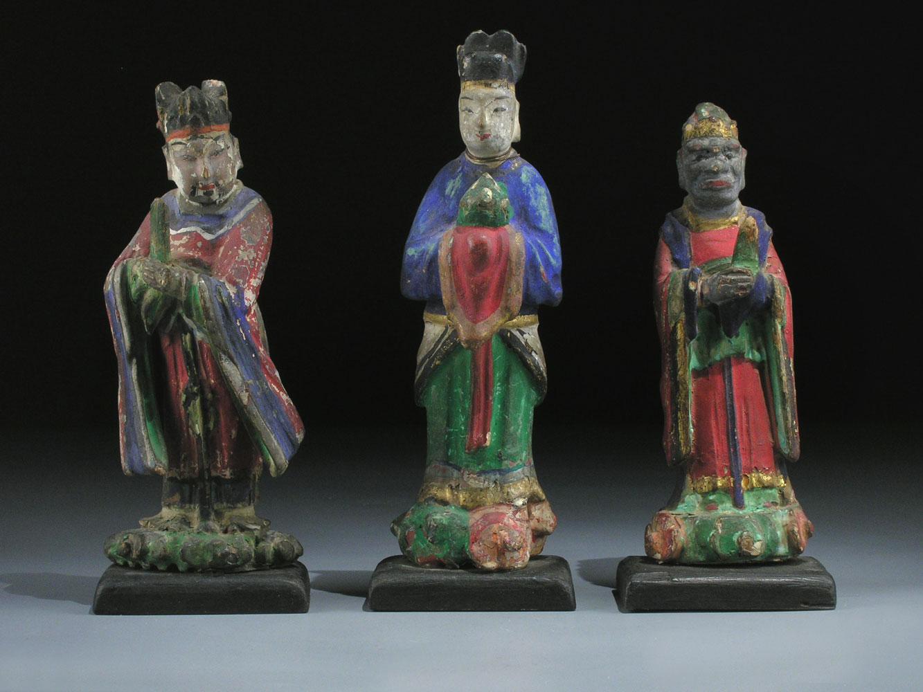 Drei chinesische Gottheiten