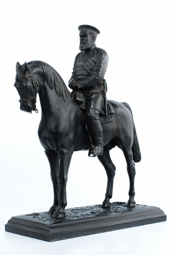 Reiterfigur Zar Alexander zu Pferd