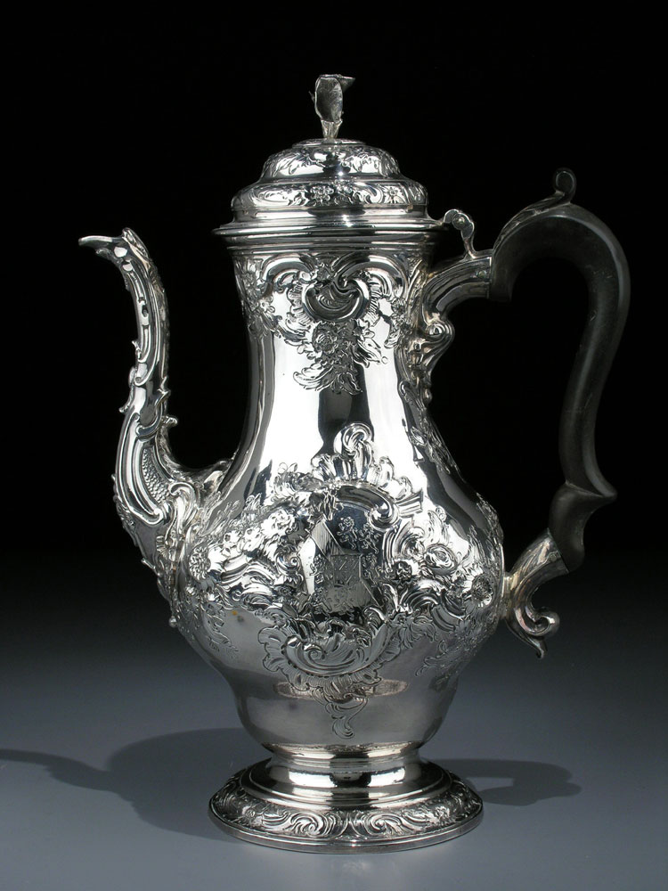 Englische Silber-Kaffeekanne