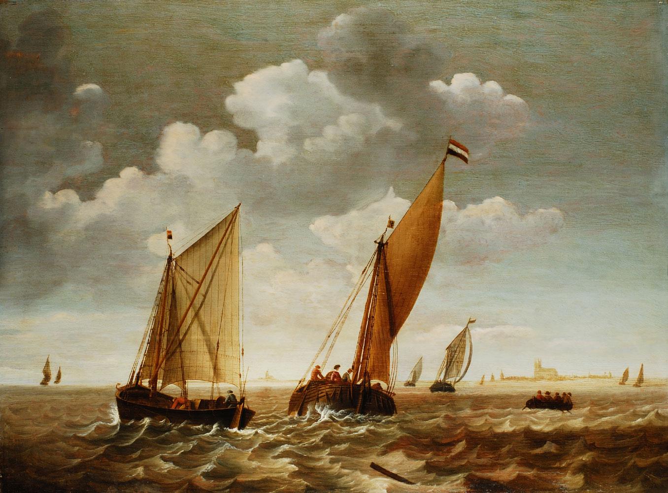 Gerard de Jager Marinemaler in Dordrecht, zeitweise in Delft tätig, gest. 1679/80