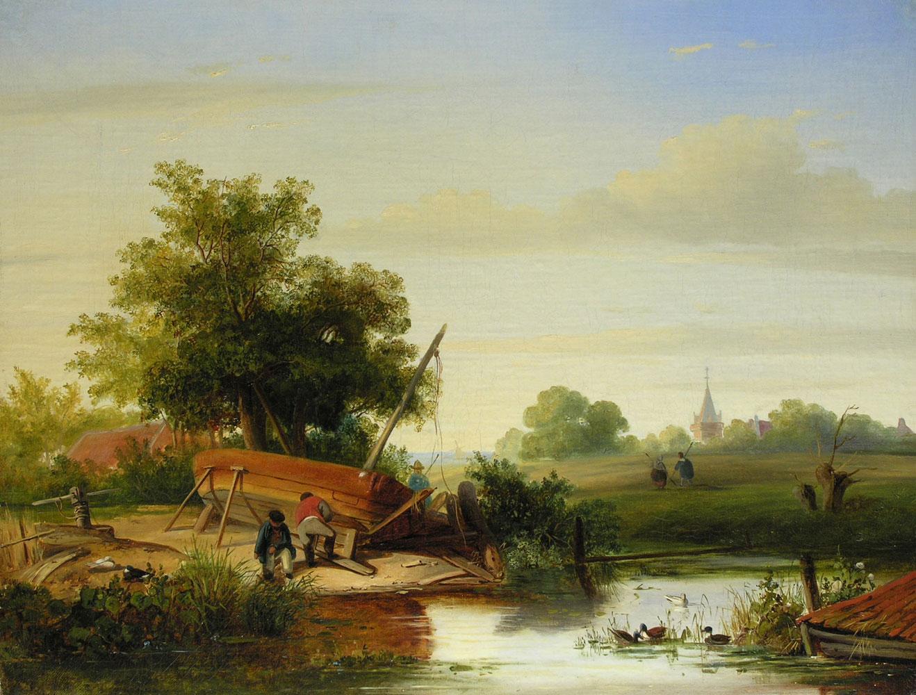 Willem Roelofs 1822 Amsterdam - 1897 Berchem