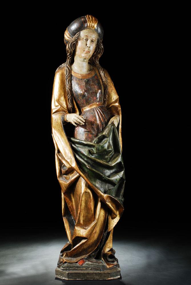 Gotische Figur einer Heiligen