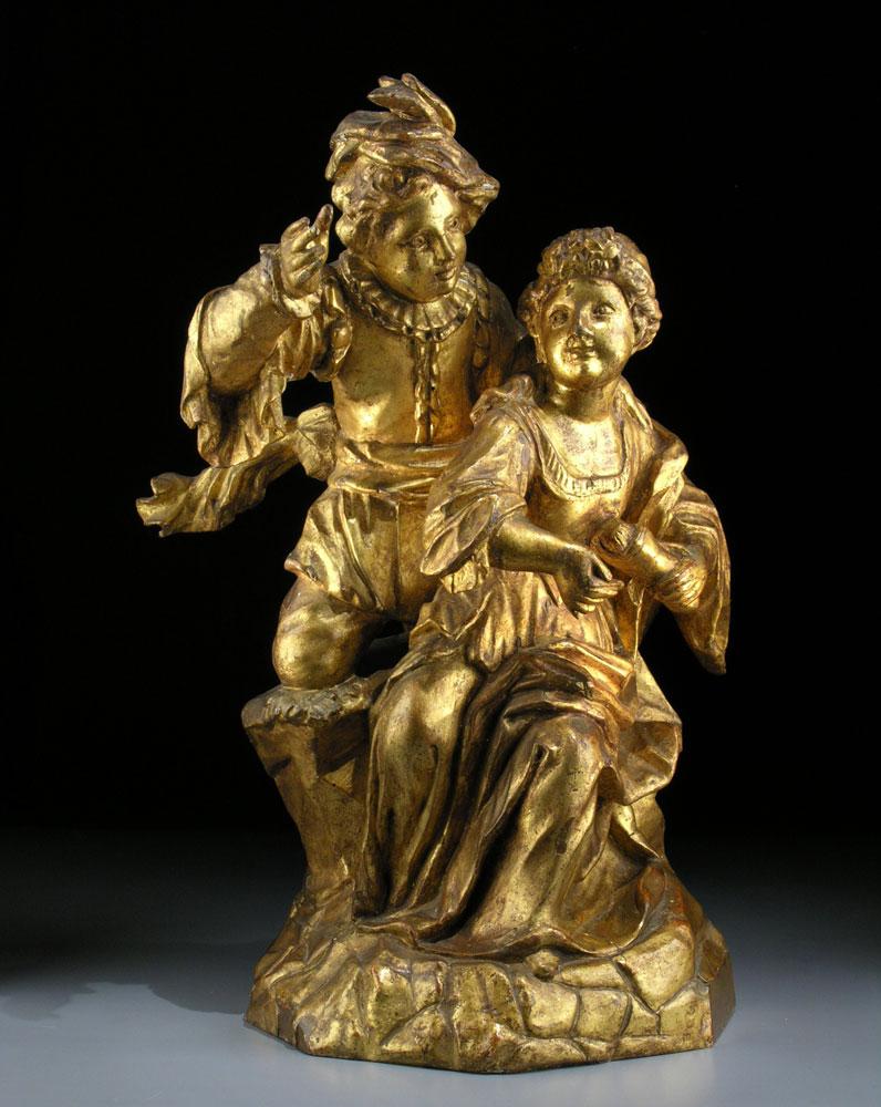 Französische Skulptur eines Paares