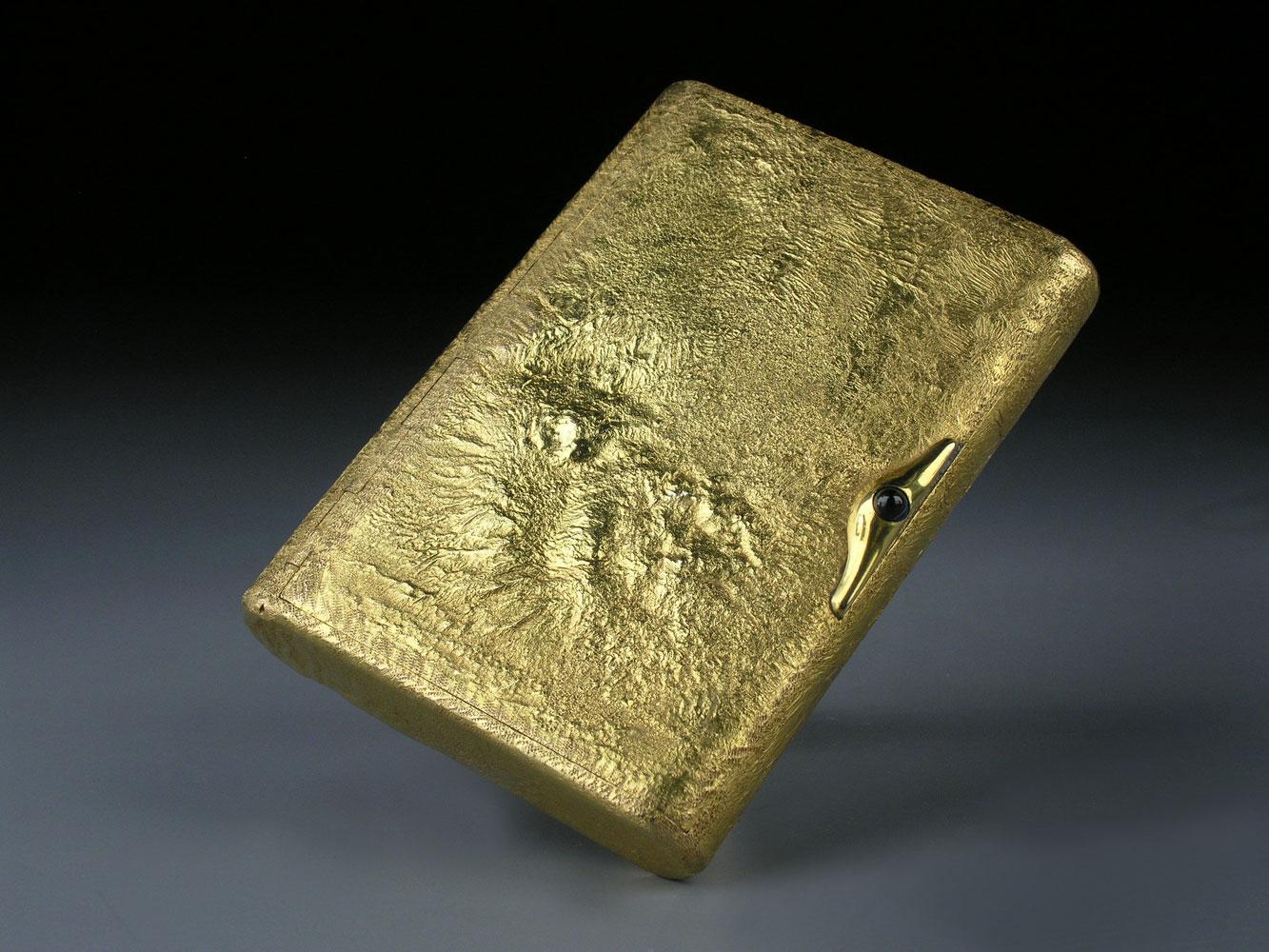 Russische Gold-Zigarettendose