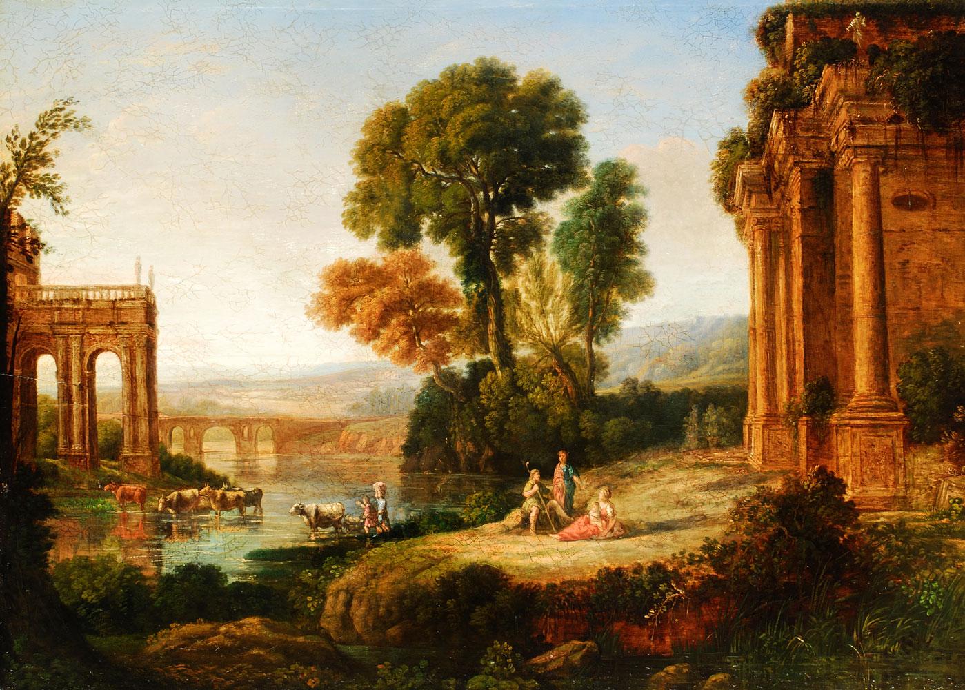 Französischer Maler des 17. Jahrhunderts, in Art von Claude-Lorrain