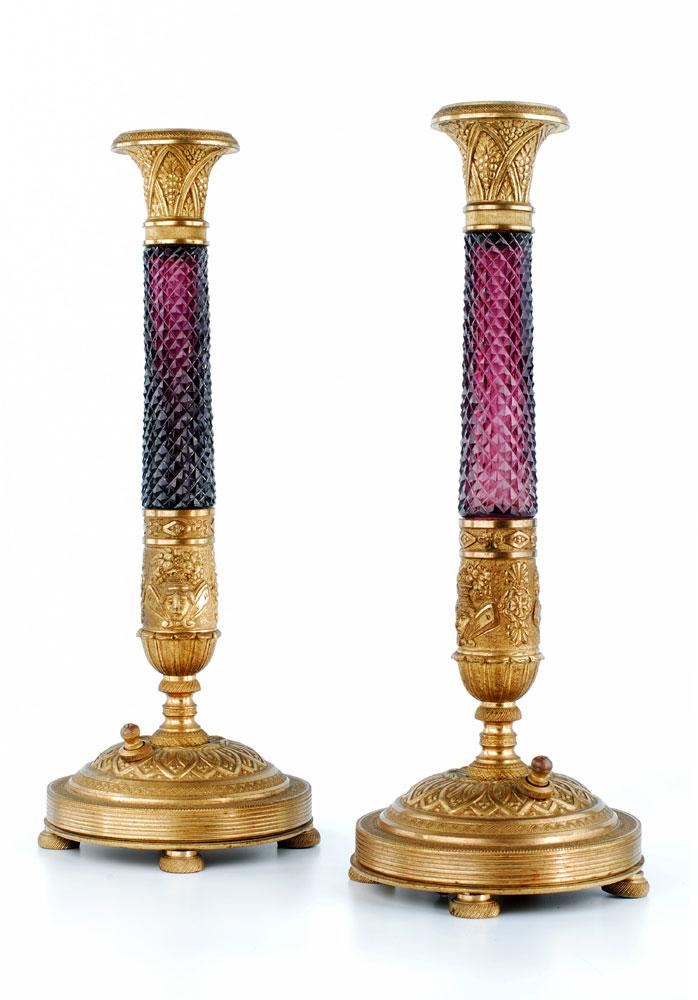 Paar russische Kerzenleuchter