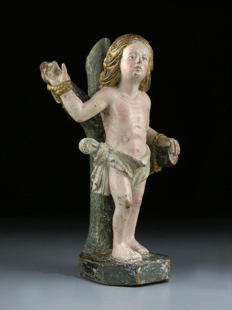 Schnitzfigur eines Heiligen Sebastian