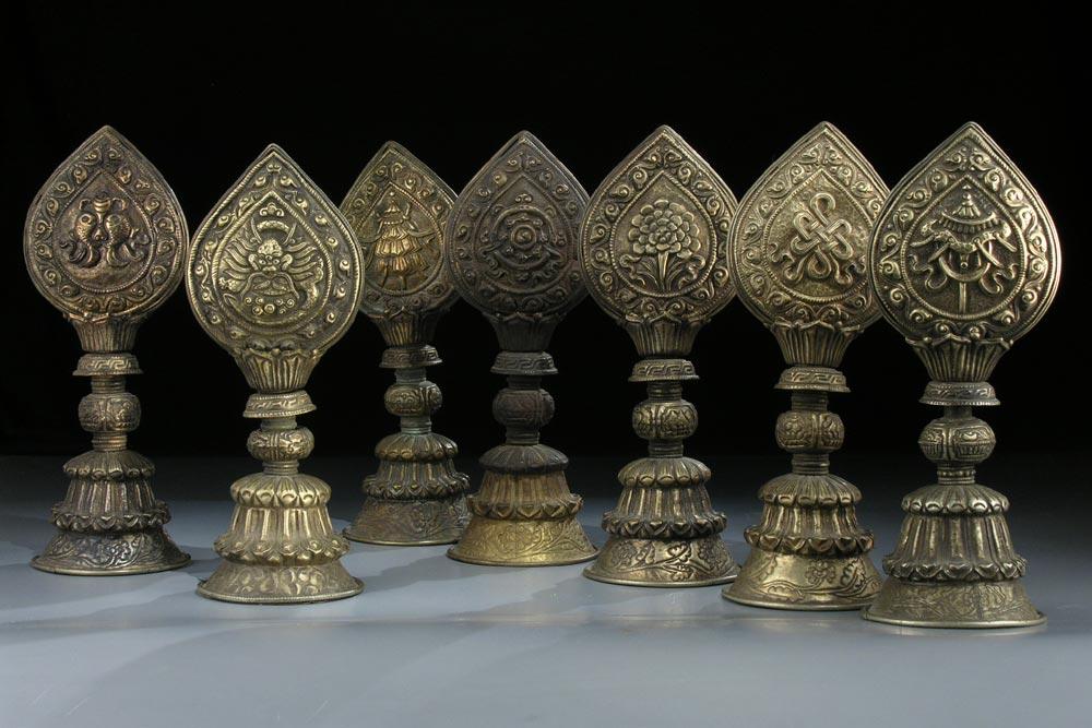 Altarset bestehend aus acht Teilen
