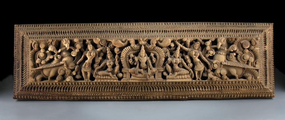 Indisches Holzpanel
