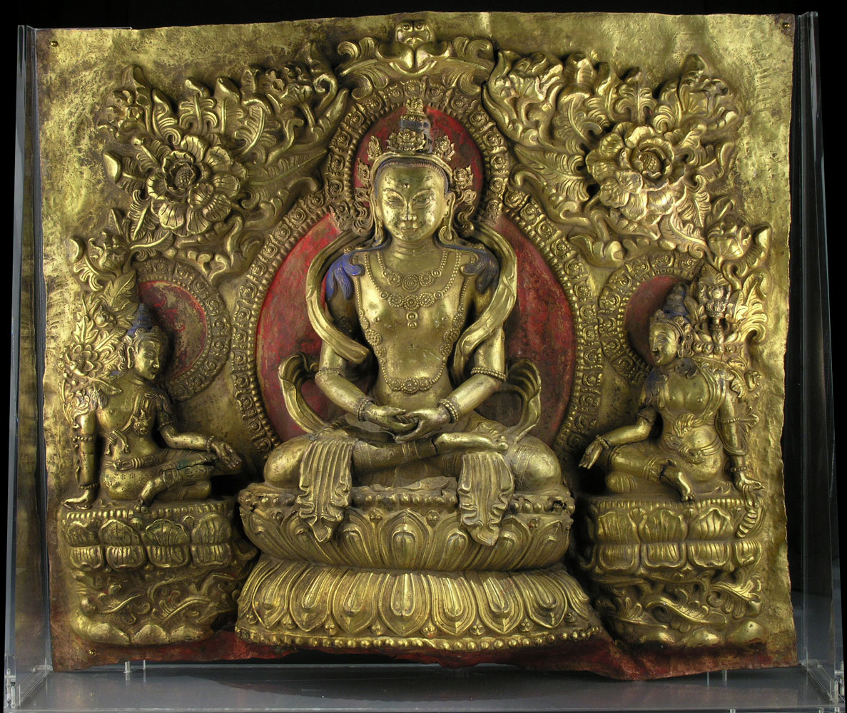 Tibetanische Buddha-Figurengruppe
