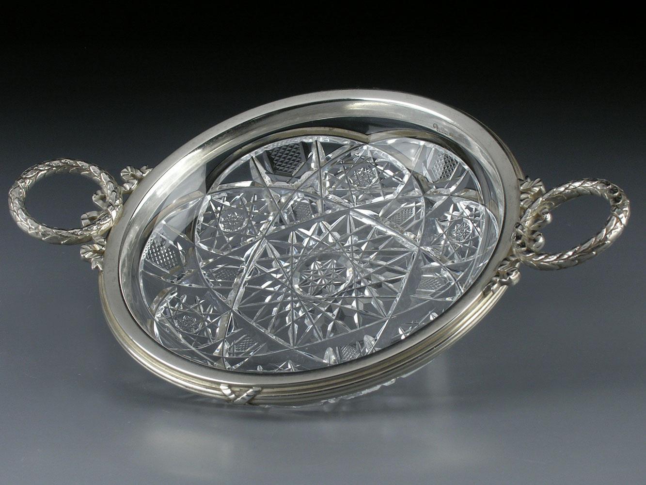 Kristallschale mit Silbermontierung von Fabergé