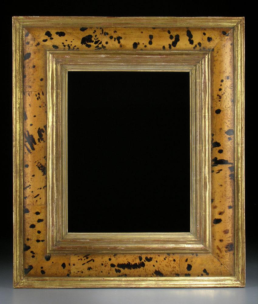 Rahmen mit vergoldeter Außen- und Innenleiste