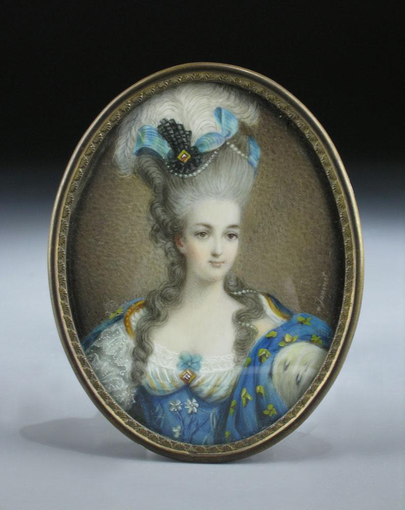 Miniaturportrait der französischen Königin Marie Antoinette nach dem großformatigen