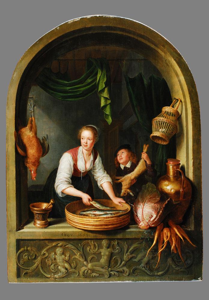 Gerrit Dou 1613 - 1675 KÖCHIN AM FENSTER