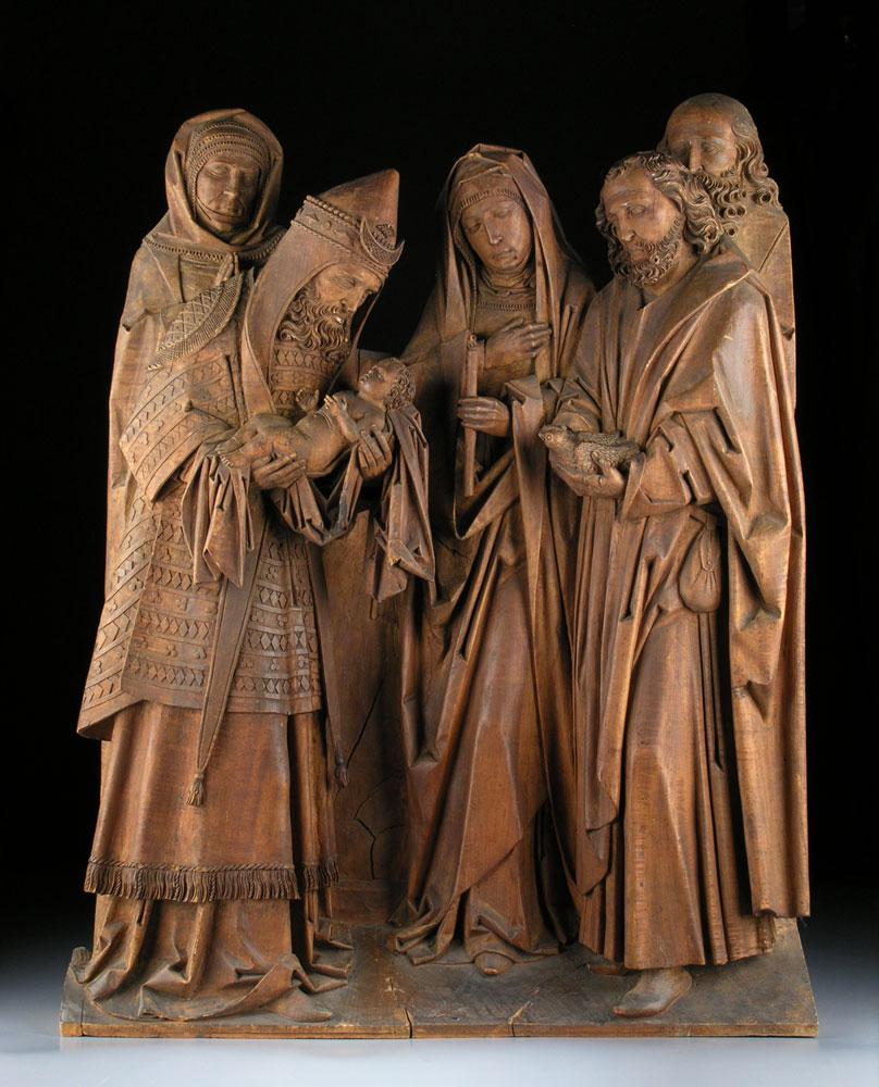 Großes Holzrelief mit gotischen Stil