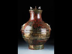 Detail images:  Bronzegefäß der westlichen Han-Dynastie
