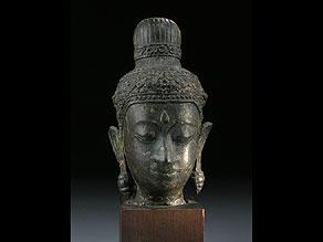 Detailabbildung:  Kopf eines Buddha