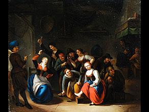 Detail images:  Gerrit Lundens 1622 - 1677