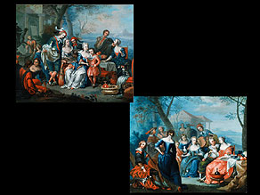 Detail images:  Franz Christoph Janneck 1703 Graz - 1761 Wien, zug.