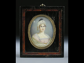 Detail images:  Portraitbildnis einer jungen Dame