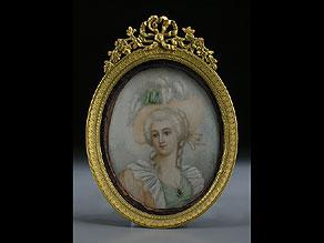 Detail images:  Portraitminiatur einer Dame